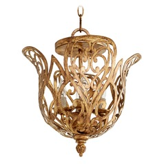 Quorum Lighting Le Monde Aged Silver Leaf Pendant Light