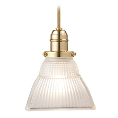 Hudson Valley Lighting Mini-Pendant Light with White Glass 3102-PB-45F