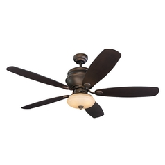 Monte Carlo Fans Ceiling Fan with Light in Bronze / Light Tea Stain Finish 5WS52RBD-L