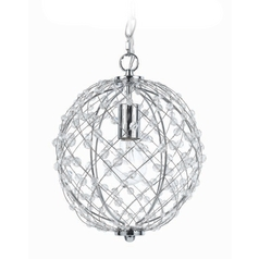 Silver Mini-Pendant with Swag Light Kit