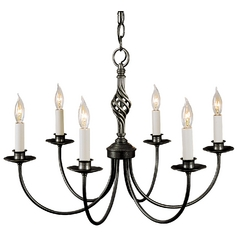 Hubbardton Forge 6-Light Chandelier in Natural Iron