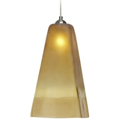 Oggetti Lighting San Marco Satin Nickel Mini-Pendant Light with Square Shade