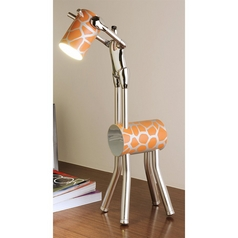 Adjustable 'Vision to Max' Artistic Chrome Plated LED Desk Lamp