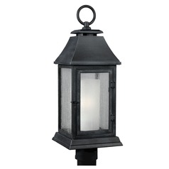 Feiss Lighting Shepherd Dark Weathered Zinc Post Light