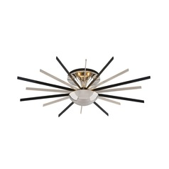 Troy Lighting Atomic Polished Nickel with Matte Black LED Semi-Flushmount Light