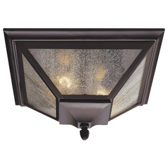 Flushmount Light with Clear Glass in Oil Rubbed Bronze Finish