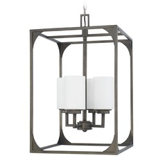 Capital Lighting Flynn Gunmetal Pendant Light with Cylindrical Shade