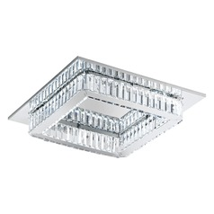 Eglo Corliano Chrome LED Flushmount Light