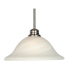 Maxim Lighting Essentials Satin Nickel Pendant Light with Bell Shade