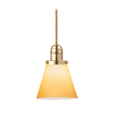 Hudson Valley Lighting Mini-Pendant Light with Amber Glass 3102-PB-505A