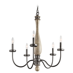 Kichler Chandelier in Distressed Antique Gray Finish