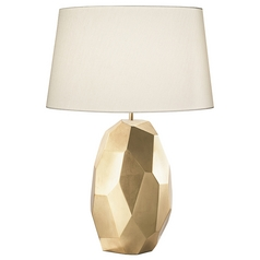 Fine Art Lamps Recollections Gold Leaf Table Lamp with Drum Shade