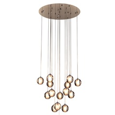 PLC Lighting Nuetron Polished Chrome Pendant Light with Globe Shade