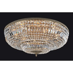 Lemire 14 Light Flush Mount with Antique Gold