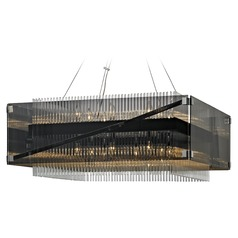 Troy Lighting Apollo Dark Bronze / Chrome Chandelier