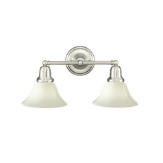 Hudson Valley Lighting Bathroom Light with White Glass in Polished Nickel Finish 582-PN-415