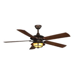 Monte Carlo Fans Ceiling Fan with Light with White Glass in Roman Bronze / Frosted (w/ White Paint Inside) Finish 5BR52RBD