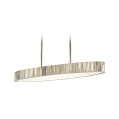 Modern Island Light in Polished Nickel Finish
