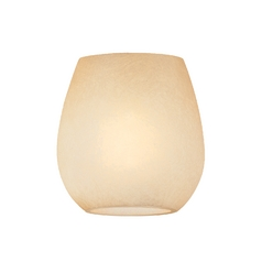Design Classics Lighting Caramelized Glass Shade - 1-5/8-Inch Fitter Size GL2730