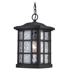 Quoizel Stonington Mystic Black Outdoor Hanging Light