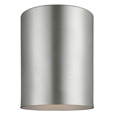 Sea Gull Lighting Outdoor Bullets Painted Brushed Nickel LED Close To Ceiling Light