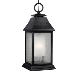 Feiss Lighting Shepherd Dark Weathered Zinc Outdoor Hanging Light