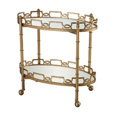 Curvilinear Two Tier Tray Table