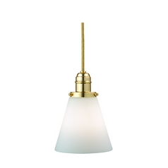 Hudson Valley Lighting Mini-Pendant Light with White Glass 3102-PB-505M