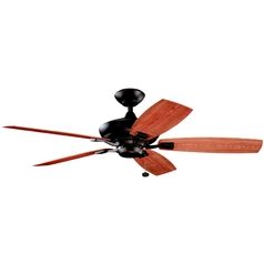 Kichler Ceiling Fan Without Light in Tannery Bronze Powder Coat Finish