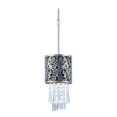 Maxim Lighting Mini-Pendant Light with Black Shade 92293BKSN