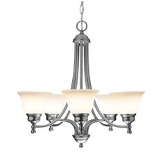 Satin Nickel Chandelier with Five Lights