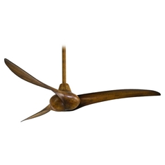 52-Inch Ceiling Fan Without Light in Distressed Koa Finish
