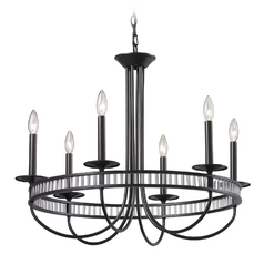Modern Chandelier in Aged Bronze Finish