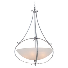 Kalco Lighting Mateo Flecked Iron Pendant Light with Bowl / Dome Shade