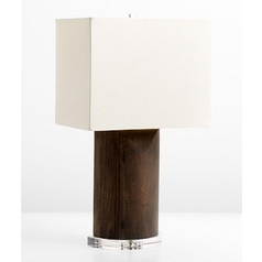 Cyan Design Athens Espresso Table Lamp with Rectangle Shade