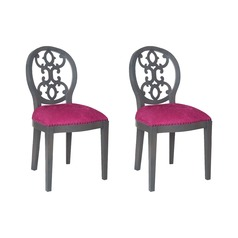 Sterling Dimple Chair In Antique Smoke And Cerise Fabric