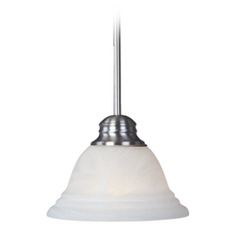 Mini-Pendant Light with Alabaster Glass Shade