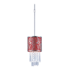 Maxim Lighting Mini-Pendant Light with Red Shade 92293RDSN
