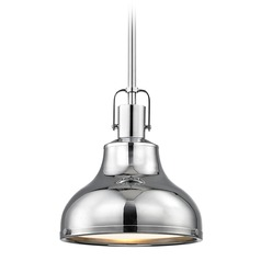 Nautical Mini-Pendant Chrome with Metal Shade 8.63-Inch Wide