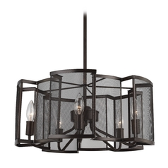 Feiss Lighting Gemini Heritage Bronze Pendant Light