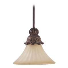 Quorum Lighting Madeleine Corsican Gold Mini-Pendant Light with Bell Shade