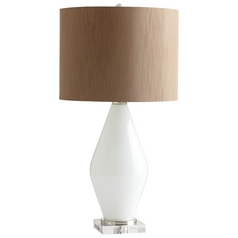 Cyan Design Pearl White Table Lamp with Drum Shade