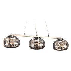 Plc Lighting Rokka Polished Chrome Island Light with Bowl / Dome Shade