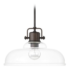 Capital Lighting Burnished Bronze Pendant Light with Warehouse Shade
