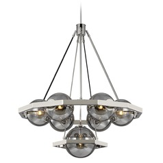 Feiss Lighting Harper Polished Nickel Chandelier