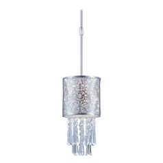 Maxim Lighting Mini-Pendant Light with White Shade 92293WTSN