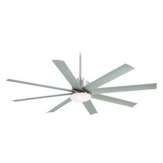 Minka Aire Brushed Nickel Outdoor Ceiling Fan