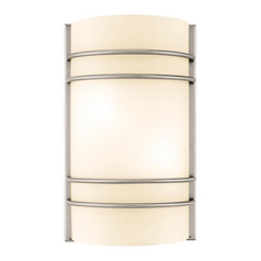 Access Lighting Artemis Brushed Steel Sconce