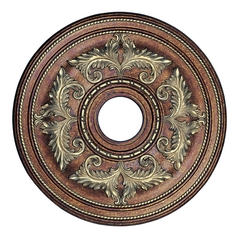 Livex Lighting Ceiling Medallions Palacial Bronze with Gilded Accents Ceiling Medallion