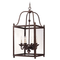 Savoy House Old Bronze Pendant Light with Square Shade